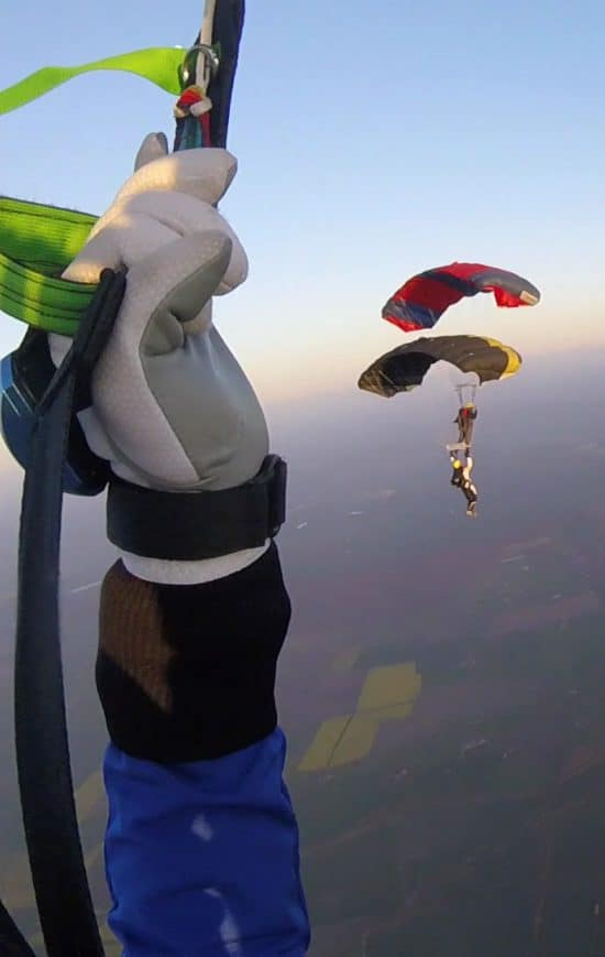 Marc Graham does his first CReW jump
