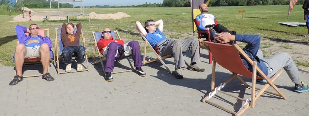 Five jumps. Time to take a brake in the polish sun