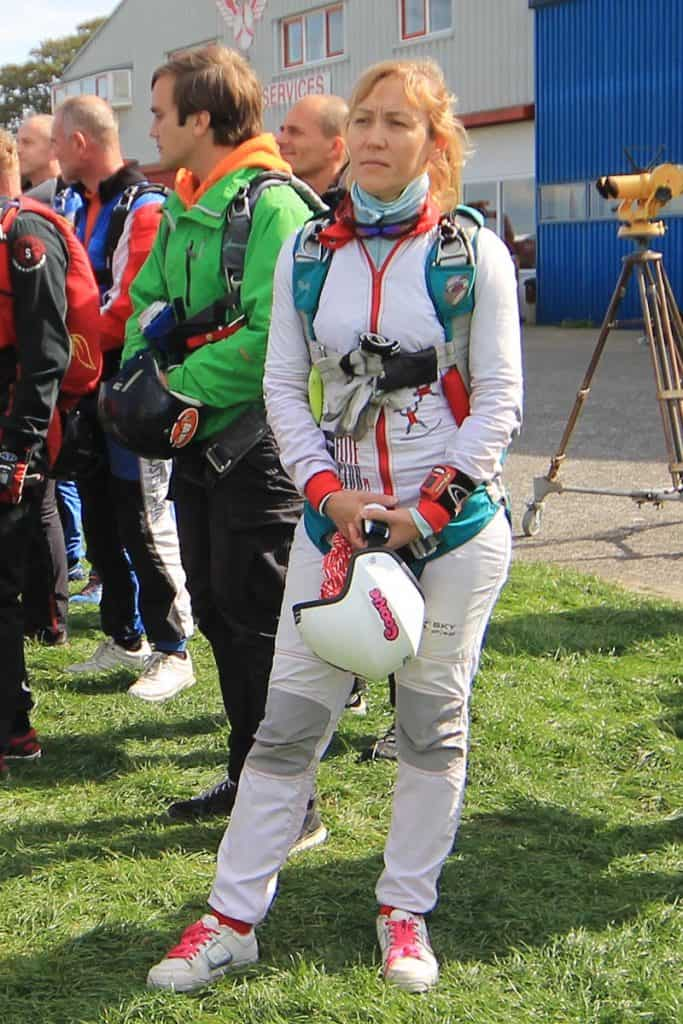 Izabela Pilarczyk, focused on her jump