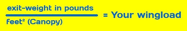 Exit Wingload Pounds